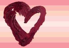 Smashed red heart shaped illustration background. Smashed red heart shape illustration Stock Photo
