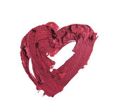 Smashed red heart shaped. Smashed red heart shape isolated on white background Stock Images