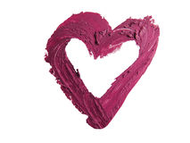 Smashed red heart shaped. Smashed red heart shape isolated on white background Royalty Free Stock Photo
