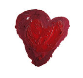 Smashed red heart shaped Stock Images