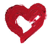 Smashed red heart shaped Royalty Free Stock Images