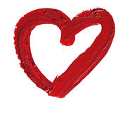 Smashed red heart shaped Royalty Free Stock Image