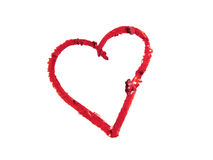 Smashed red heart shaped Royalty Free Stock Photos