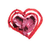 Smashed red and pink heart shaped. Smashed red and pink heart shape isolated on white background Royalty Free Stock Images