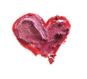 Smashed red and pink heart shaped. Smashed red and pink heart shape isolated on white background Royalty Free Stock Image