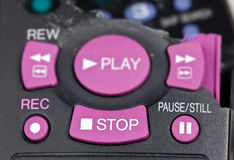 Smashed remote control Royalty Free Stock Image