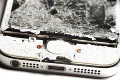 Smashed smart phone royalty free stock images