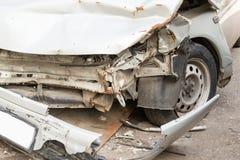 Smashed up Car Stock Photo