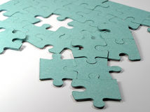 Smashed up puzzles Royalty Free Stock Photos
