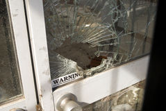 Shattered window royalty free stock photography