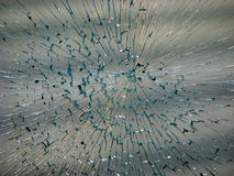 Smashed window Royalty Free Stock Photography