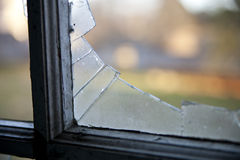 Smashed window Royalty Free Stock Image