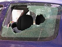 Smashed window Stock Photos
