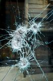 Smashed window Stock Image