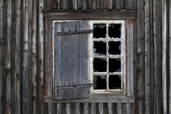 Smashed Window in Old Abandoned House Royalty Free Stock Images