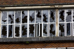 Free Smashed Windows In The Derelict Unigate Factory, Great Torrington, Devon, England. Stock Photos - 67843733