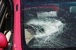 Smashed windscreen Royalty Free Stock Photo