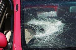 Smashed windscreen royalty free stock photo