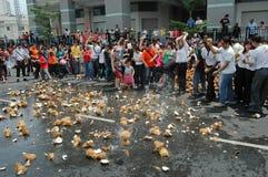 Smashing coconuts Royalty Free Stock Image