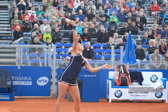 Smashing Elena Vesnina - tennis Royalty Free Stock Image