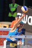 Smashing Emanuel Rego - beach volleyball Stock Photos