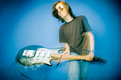 Smashing Guitar Royalty Free Stock Photography