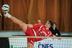 Smashing Jakub Medek - football tennis Royalty Free Stock Photos