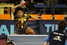 Smashing Kaii Yoshida - table tennis Royalty Free Stock Photography