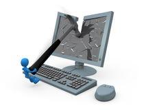 Smashing Monitor Royalty Free Stock Images