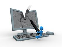 Smashing Monitor Stock Images