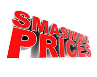 Smashing Prices. A part of a series of digitally rendered advertising material. Up close and dramatic Stock Images