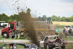 Car Crash and Smash Dirby Dirt Stock Image