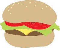 smaskig cheeseburger stock illustrationer
