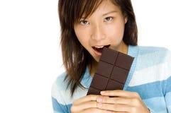 Smaskig choklad Arkivbild