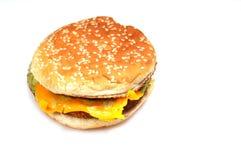 smaskig hamburgare Fotografering för Bildbyråer