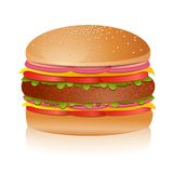 smaskig hamburgare vektor illustrationer
