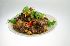 Smaskig kinesisk mat----varmt svins fot royaltyfri fotografi