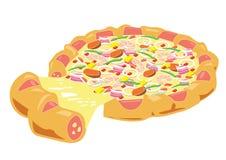 Smaskig pizza Arkivbilder
