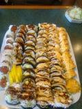 Smaskig sushi!! Arkivfoto