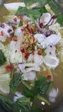 Smaskig tioarmad bläckfisk Arkivfoton