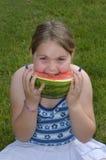 smaskig vattenmelon Arkivbild