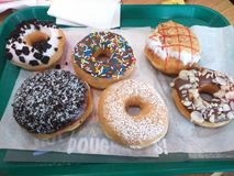 Smaskiga donuts Royaltyfri Bild