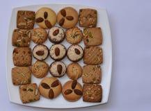 Smaskiga läckra nytt gjorda kakor, perfekta mellanmål för en bra terast Arkivfoto