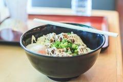Smaskiga ris med mat för Teriyaki höna- och för böldägg japan Arkivbild