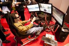 SMAU 2010 - gioco 3d Fotografie Stock