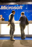 SMAU 2010 - Microsoft reception desk Stock Photo