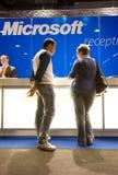 SMAU 2010 - Microsoft reception desk Stock Photo