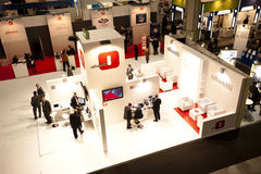 SMAU 2010 - Olivetti stand from above Royalty Free Stock Photo