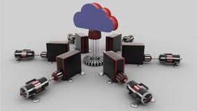 SMAU 2010 - de wolk van Microsoft gegevensverwerking Stock Afbeelding