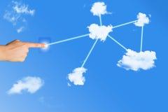 SMAU 2010 - de wolk van Microsoft gegevensverwerking Stock Foto